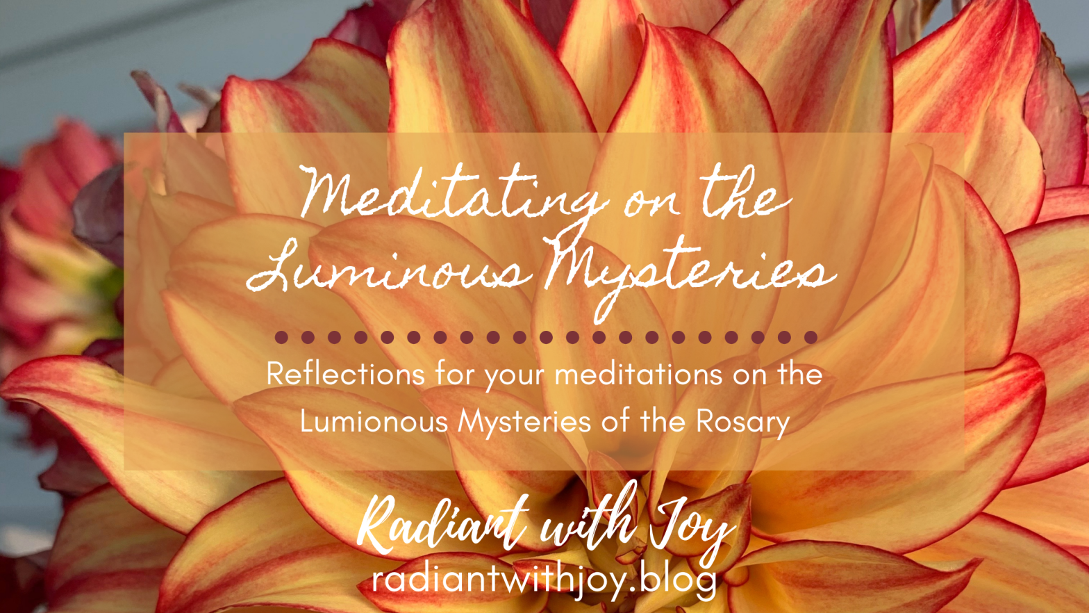 Meditating on the Luminous Mysteries