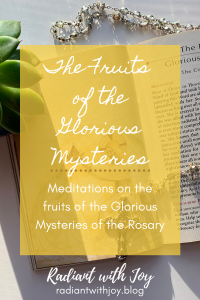 The Fruits of the Glorious Mysteries: Meditations on the fruits of the Glorious Mysteries of the Rosary
