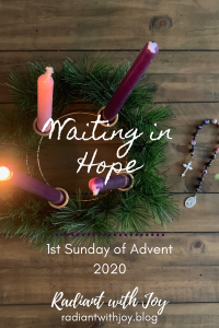 Waiting in Hope: 1st Sunday of Advent 2020