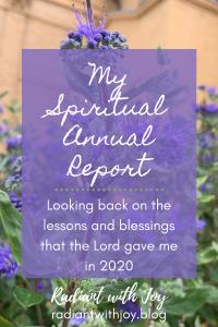 My Spiritual Annual Report