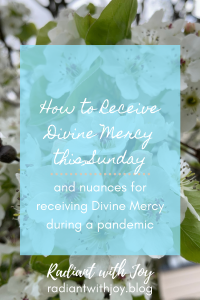 How to Receive Divine Mercy this Sunday