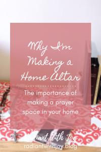 Why I'm Making a Home Altar