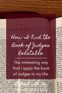 How I Find the Book of Judges Relatable