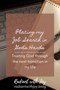 Placing my Job Search in God's Hands